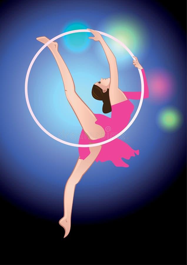 Acróbata de circo stock de ilustración