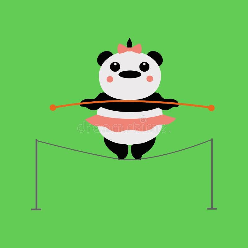 Acróbata de la panda stock de ilustración