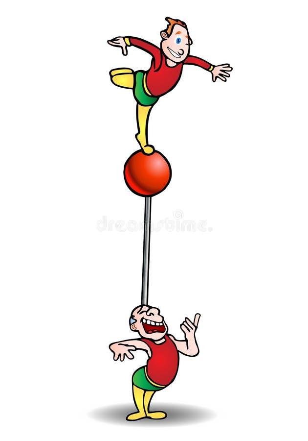 Acróbata equilibrado ilustración del vector