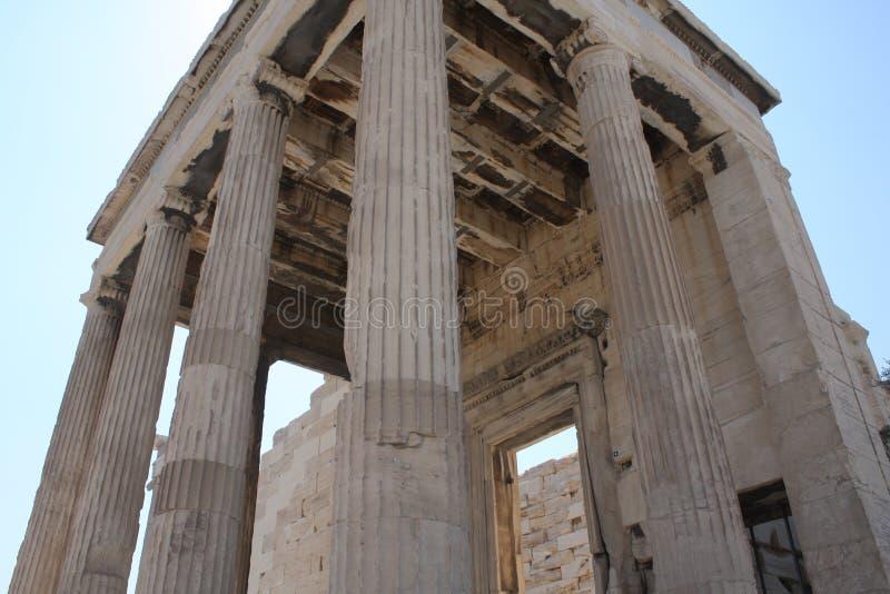 Acrópole de Atenas - Arrephorion imagem de stock