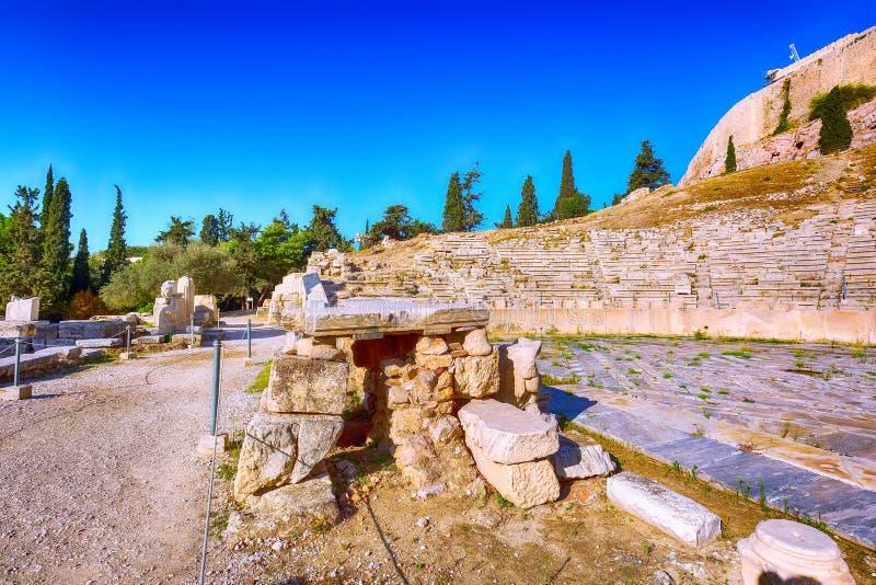 Acrópole de Atenas, Grécia fotografia de stock