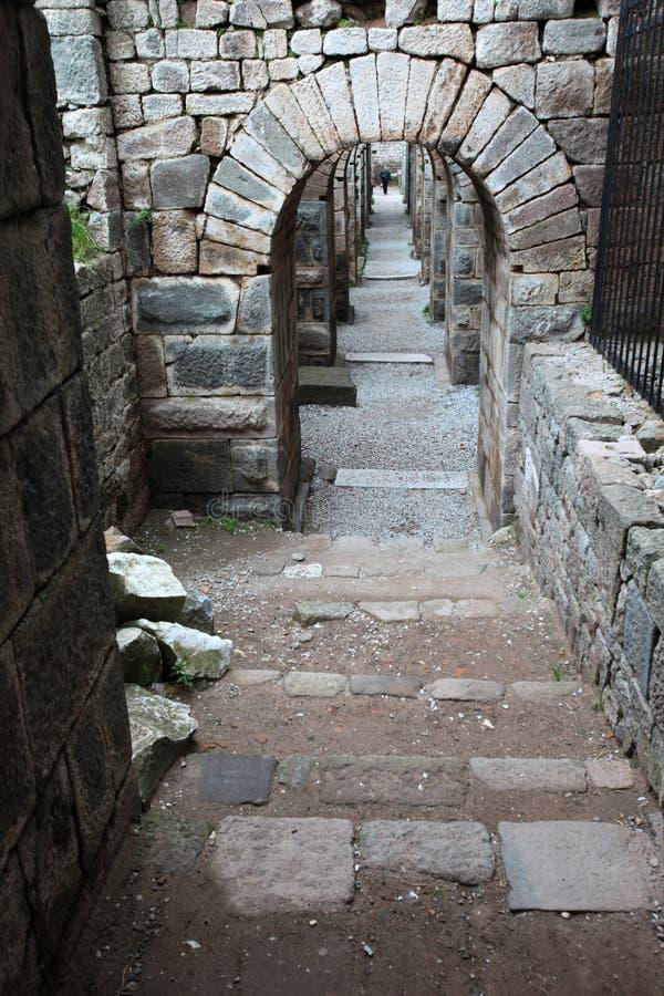 Acrópole de Pergamon em Turquia imagens de stock