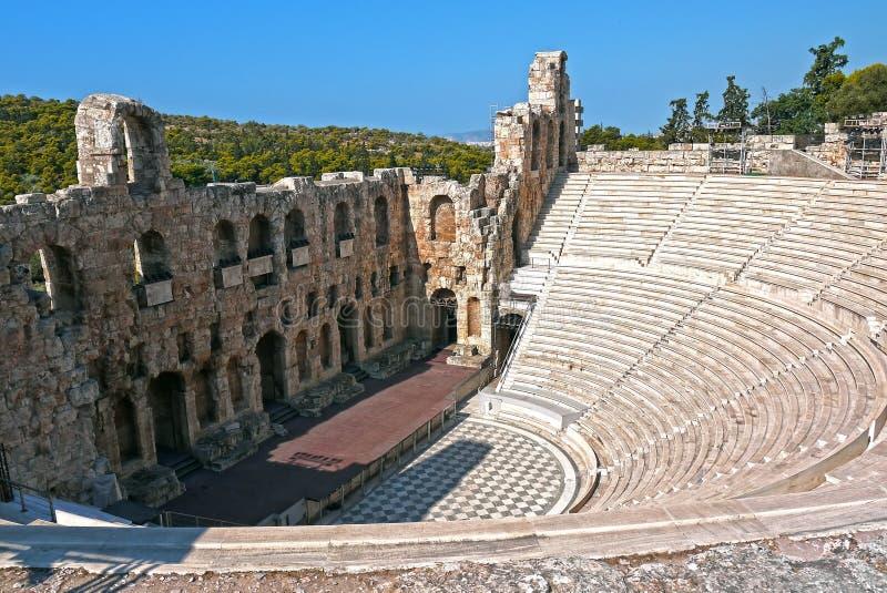 Acrópole do anfiteatro, Atenas Greece fotos de stock