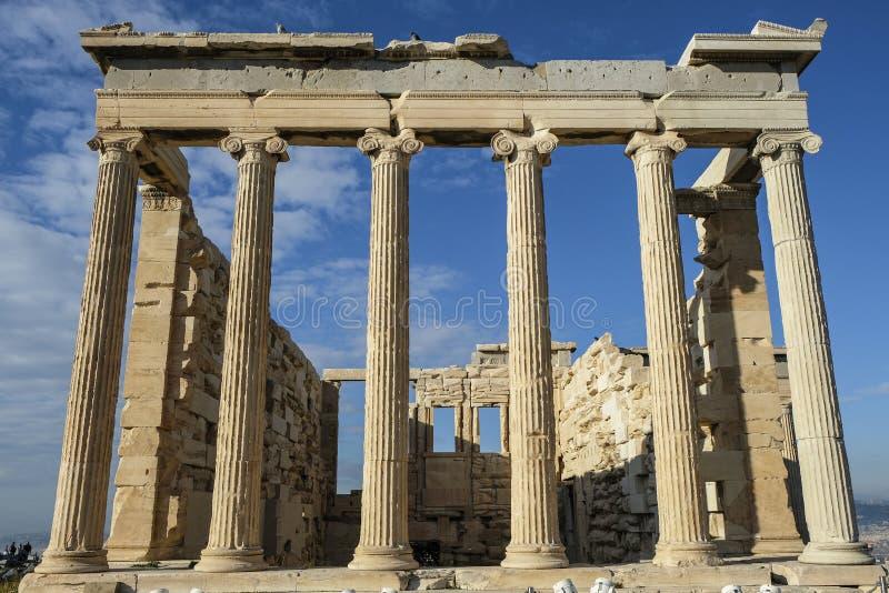 A acrópole em Atenas, Grécia foto de stock