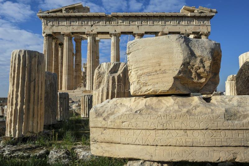 A acrópole em Atenas, Grécia imagens de stock