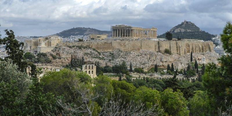 A acrópole em Atenas, Grécia imagens de stock royalty free