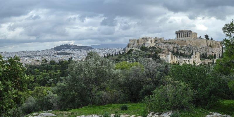 A acrópole em Atenas, Grécia imagem de stock