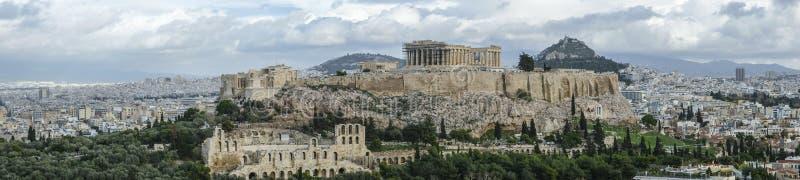 A acrópole em Atenas, Grécia fotografia de stock