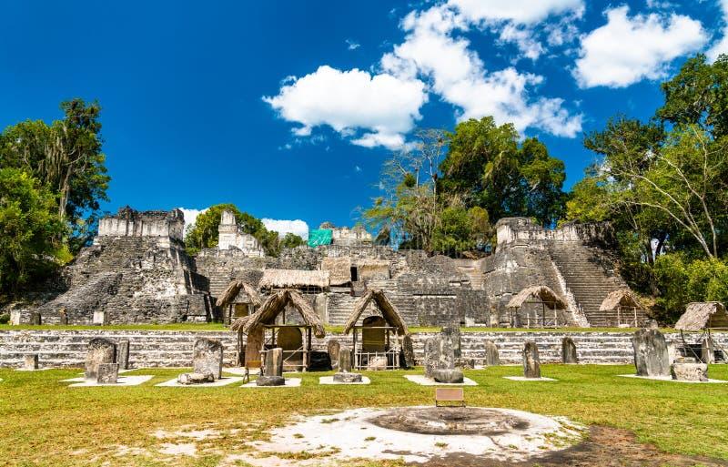 Acrópole norte em Tikal na Guatemala foto de stock