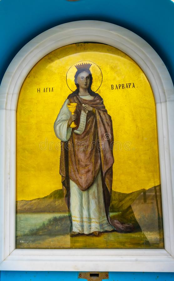 Acrópolis Atenas Grecia de Barbara Icon Saint Sophia Church del santo fotos de archivo