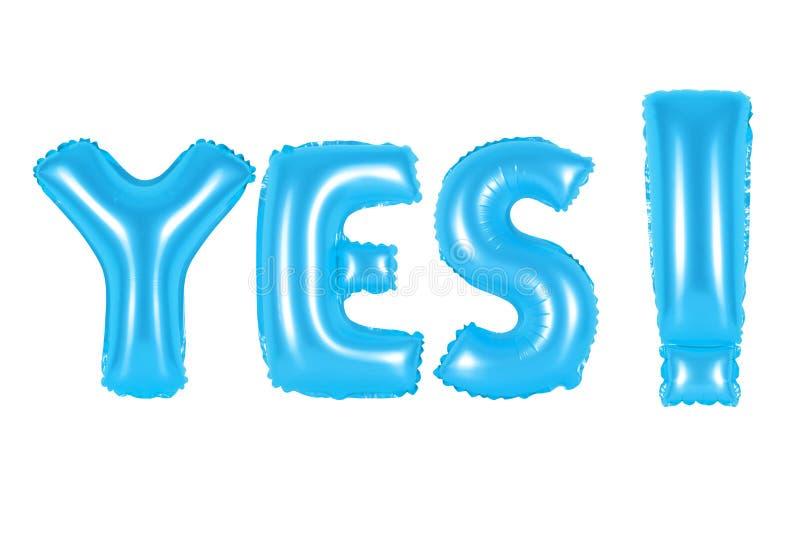 Acrônimo e abreviatura, sim, cor azul imagens de stock royalty free