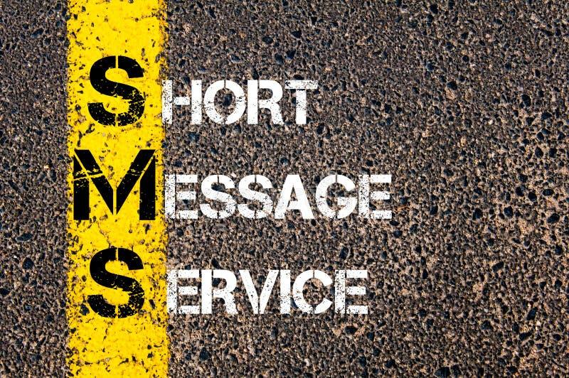 Acrônimo SMS - serviço de mensagem curto fotos de stock royalty free