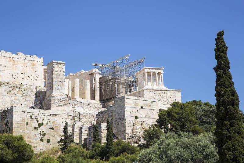 Acr?polis en Atenas imagen de archivo libre de regalías