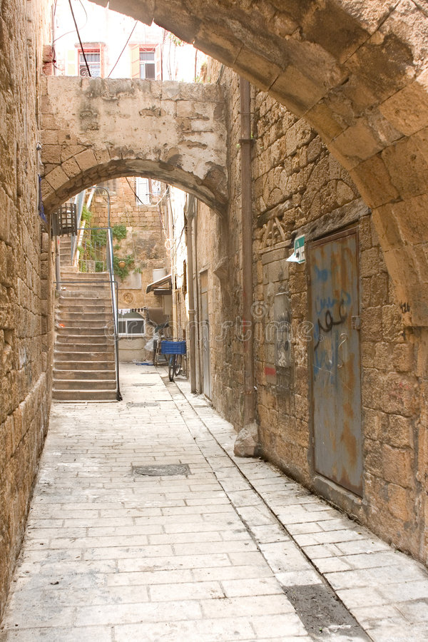 Acre, courtyard stock photography