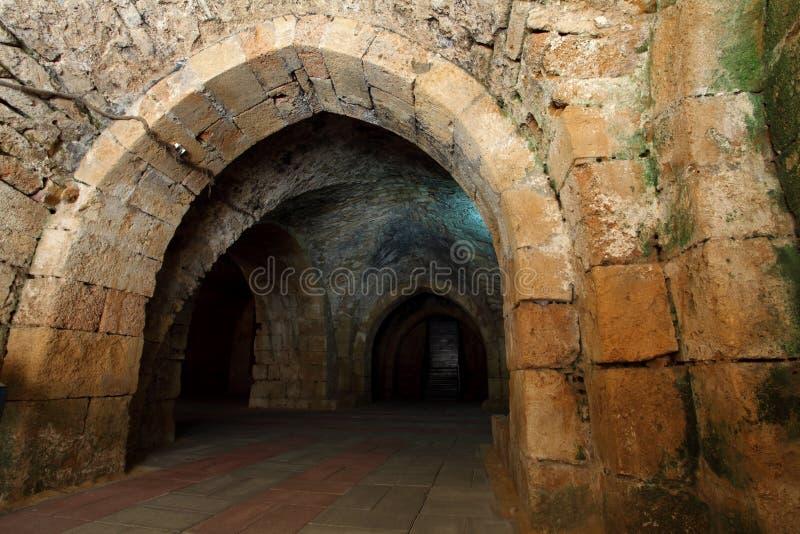Acre knight templar castle, royalty free stock photo