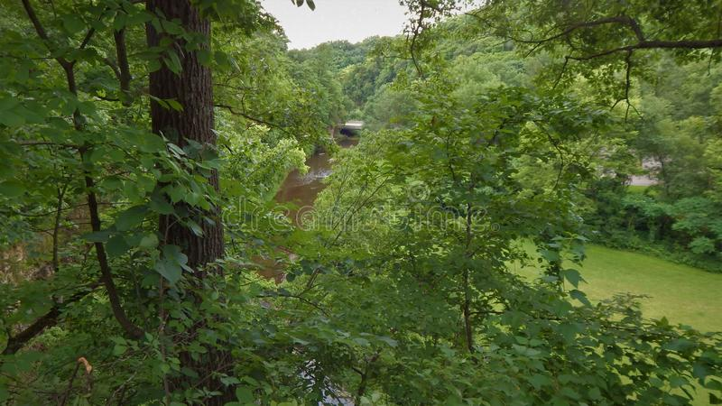 Apple River Canyon State Park Overlook stock photography