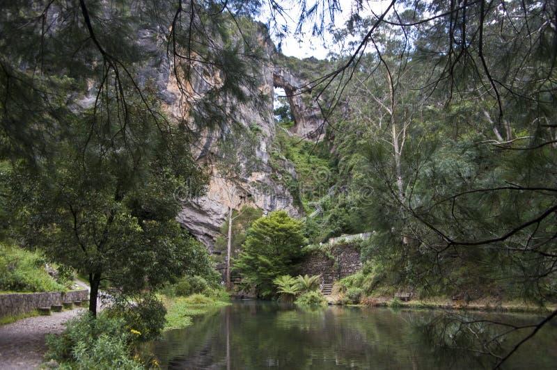 Acrh de Jenolan et cavernes, Australie. photographie stock libre de droits