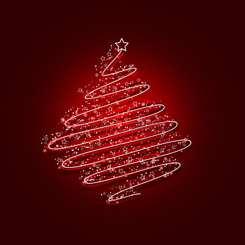Acribble Christmas Tree Stock Images