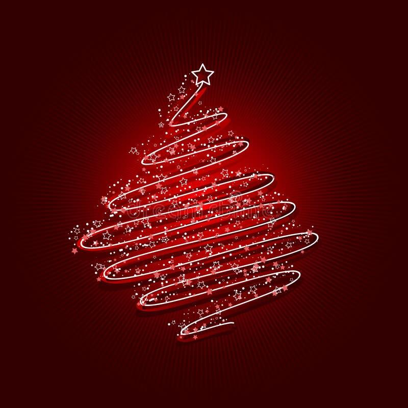 Acribble Weihnachtsbaum stock abbildung