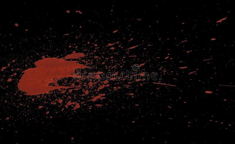 Acrilic farby czerwieni splatters zdjęcie stock
