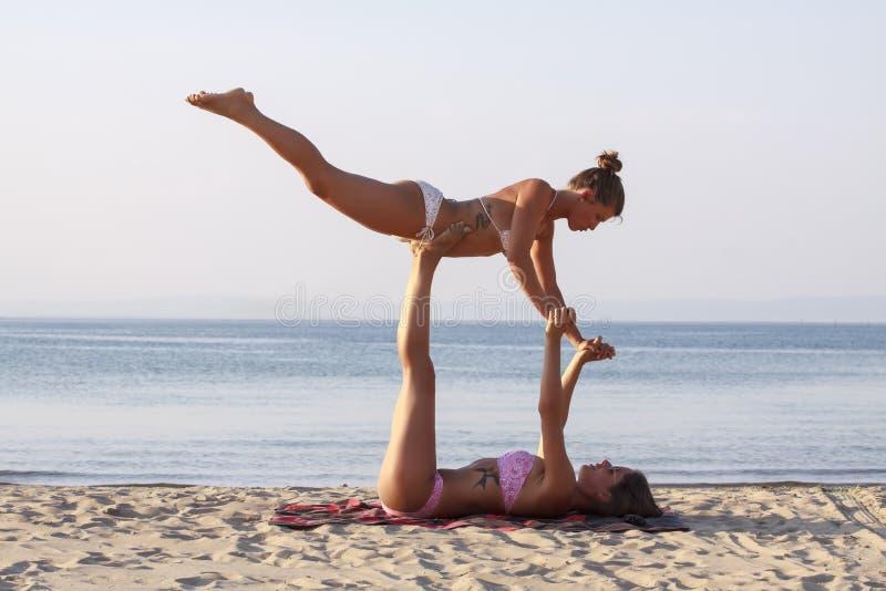 Acro yoga II royalty free stock image