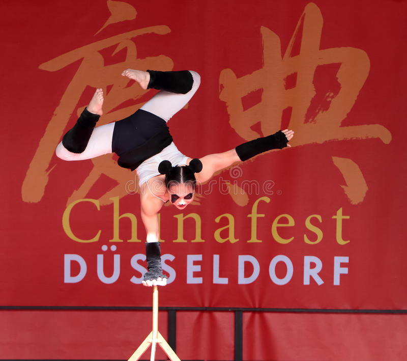 Acrobat of the Chinese State Circus. royalty free stock image