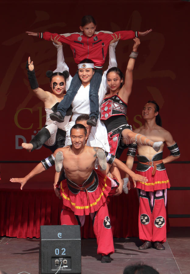 Acrobat of the Chinese State Circus. stock image