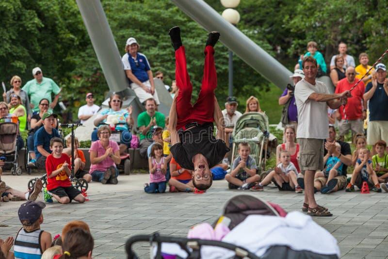 Acrobat at Iowa State Fair royalty free stock images
