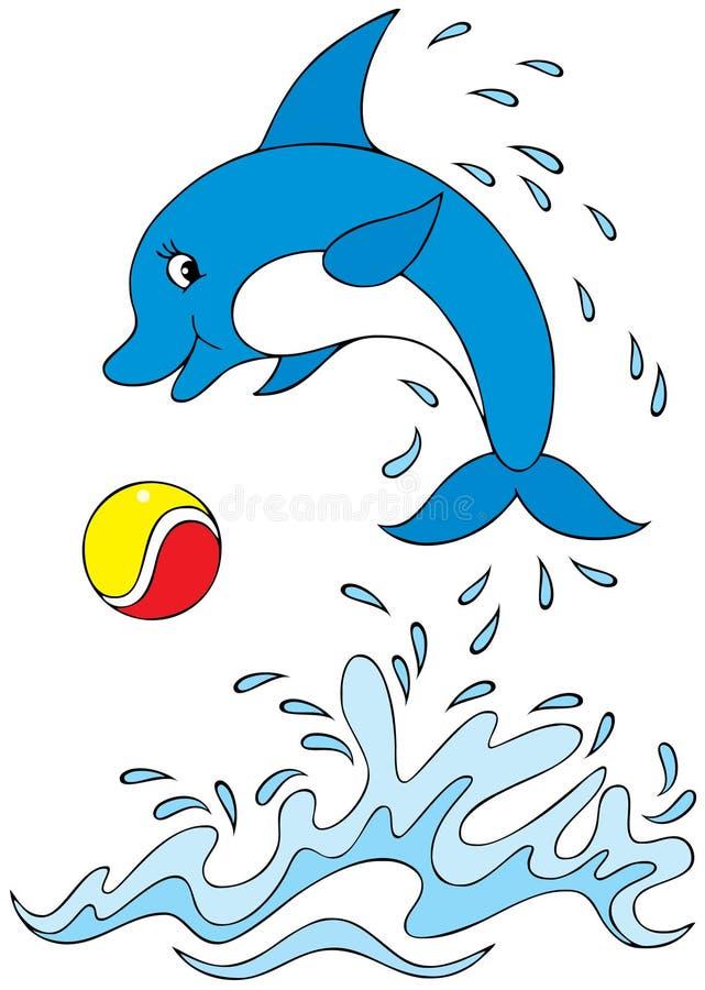 Acrobata do golfinho ilustração royalty free