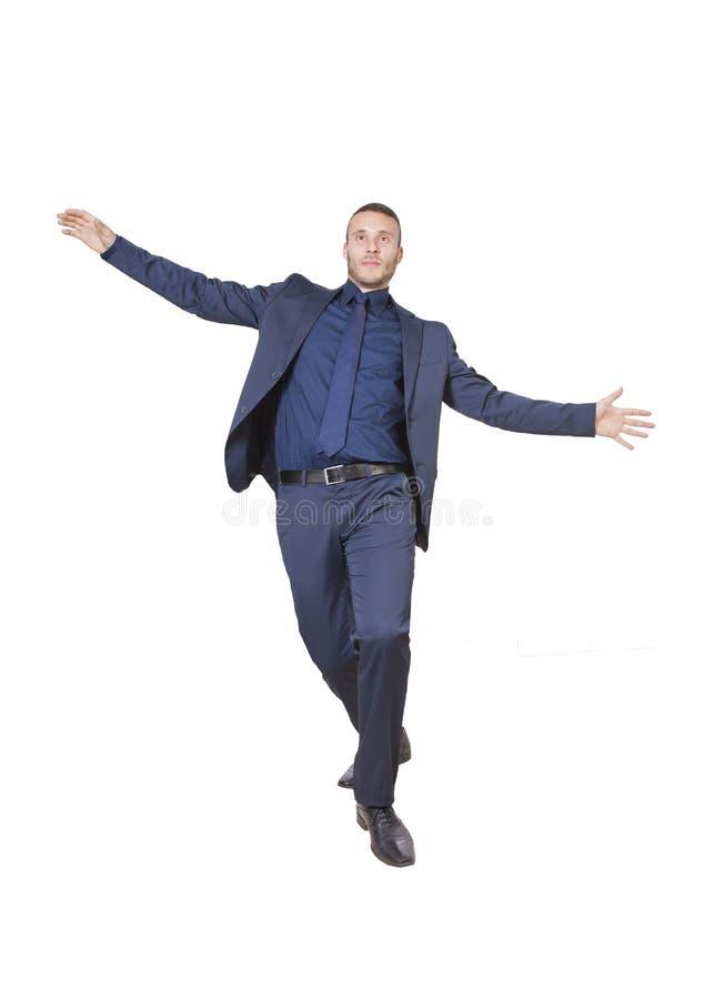 Acrobata do homem de negócios fotos de stock