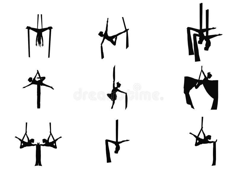 Acrobatas ajustadas ilustração do vetor