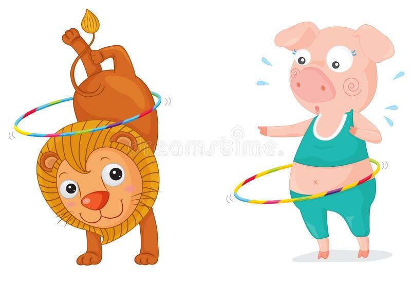 Download Acrobatic stock illustration. Illustration of flexibility - 9202271