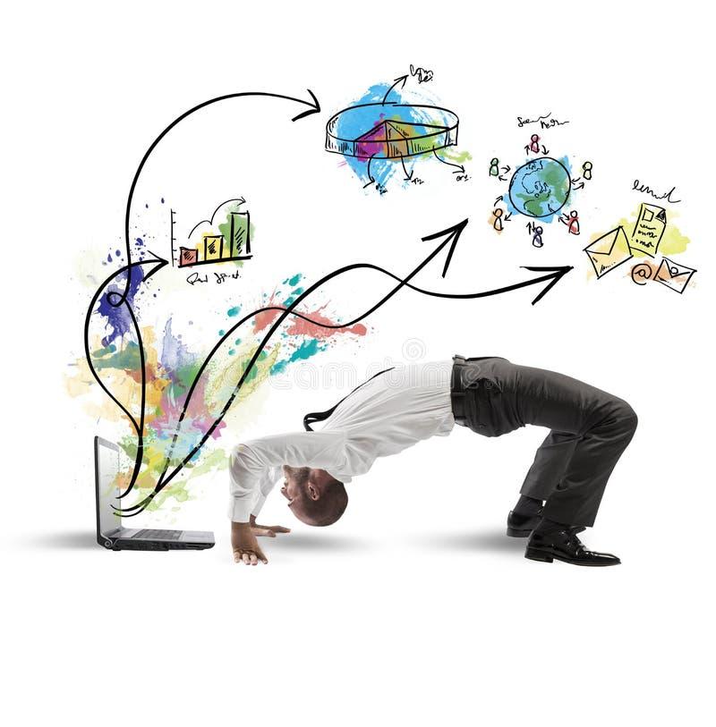 Download Acrobatic businessman stock image. Image of balance, notebook - 33436223