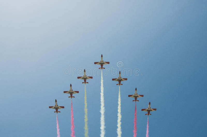 Download Acrobatic Formation - Planes Over Malaga Stock Photo - Image of exhibition, speed: 33351168