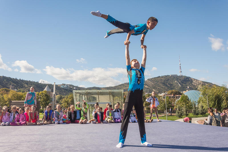 Acrobatic. royalty free stock photography