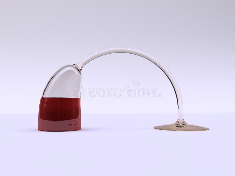 acrobatic glass wine arkivbild