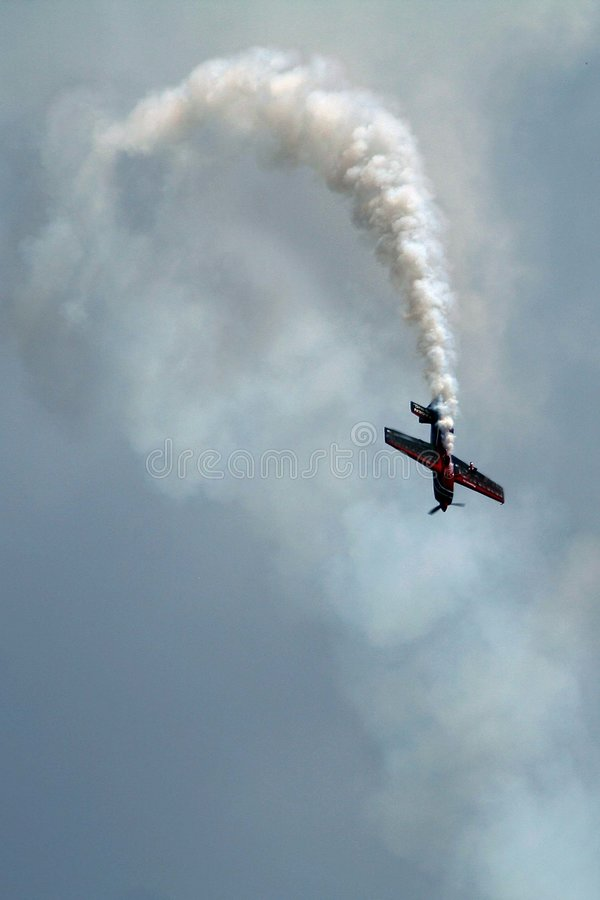 Acrobatic plane royalty free stock image