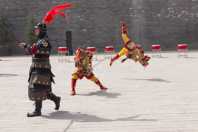 Chinese dance and acrobatic, Xian royalty free stock images