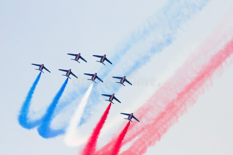 Acrobatics aerei fotografie stock