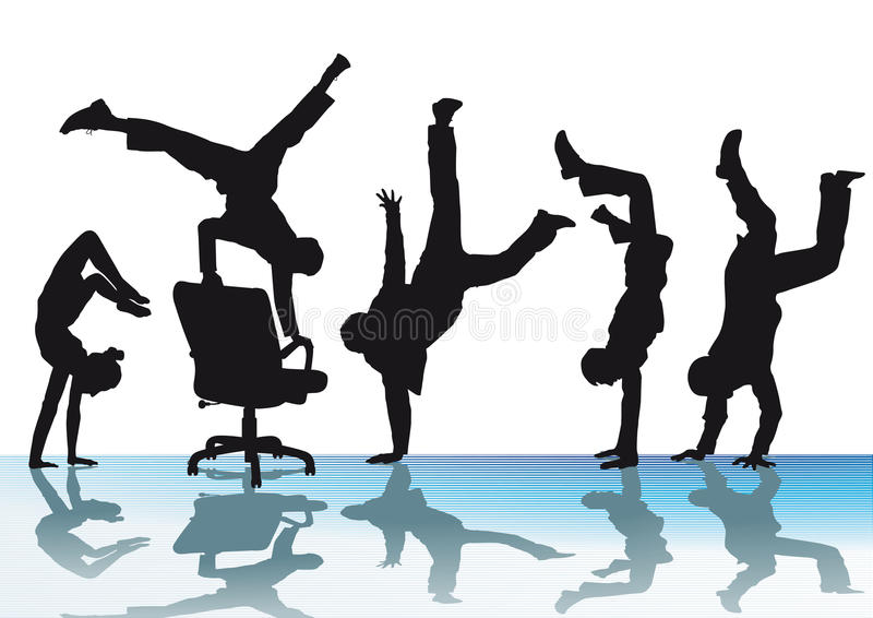 Acrobaties de bureau illustration stock