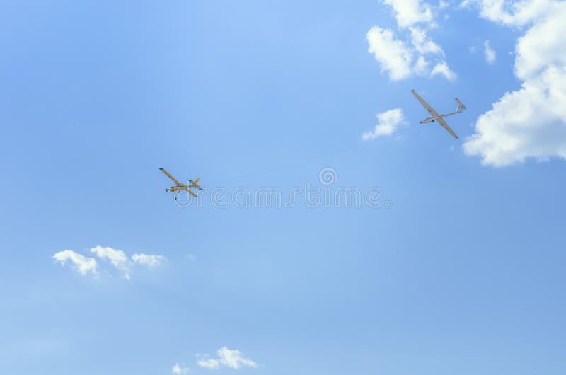 Acrobatische vliegtuigen royalty-vrije stock fotografie