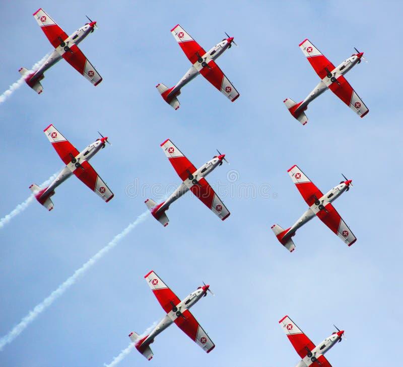Acrobatische Zwitserse Vlucht royalty-vrije stock afbeelding
