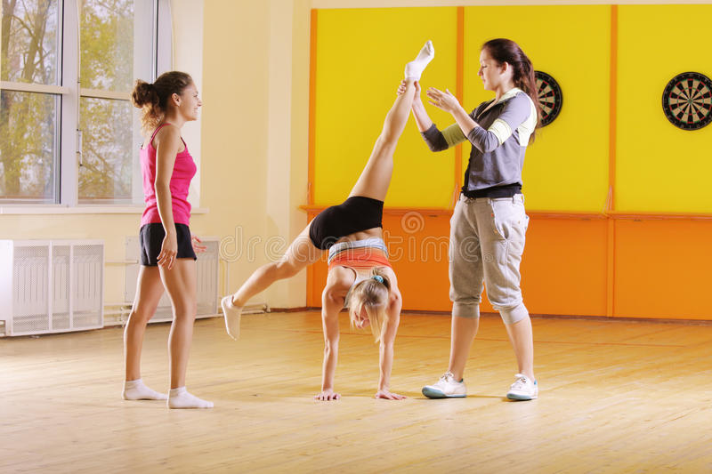 Download Acrobats in gym stock photo. Image of sport, caucasian - 12009988