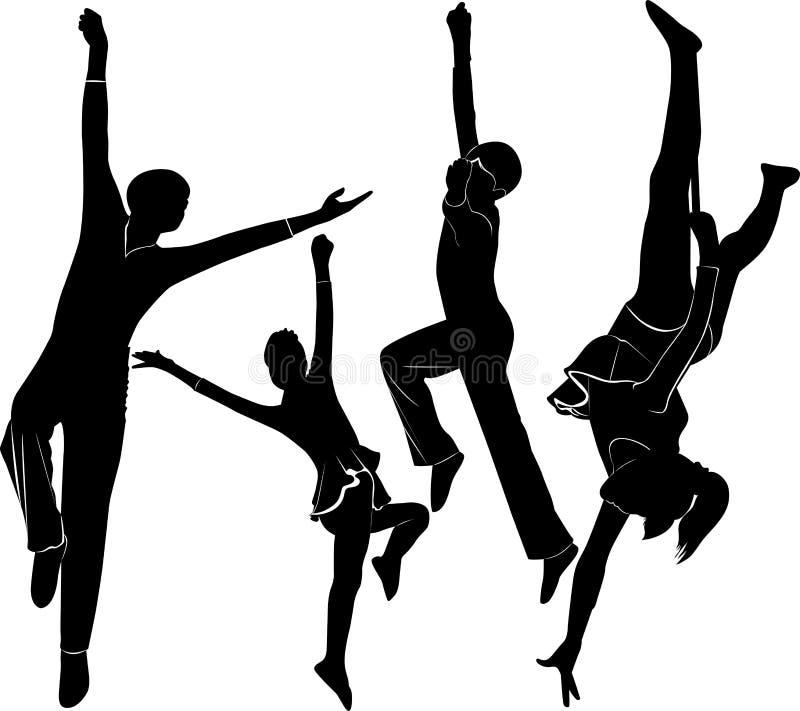 Acrobats gymnasts stock illustration