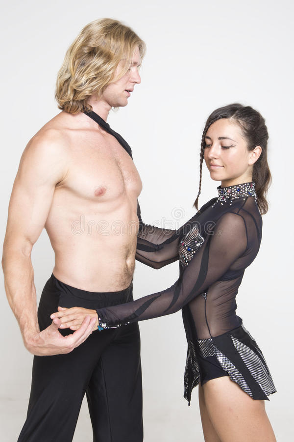 Download Acrobats Have Tender Moment Stock Image - Image: 33314175