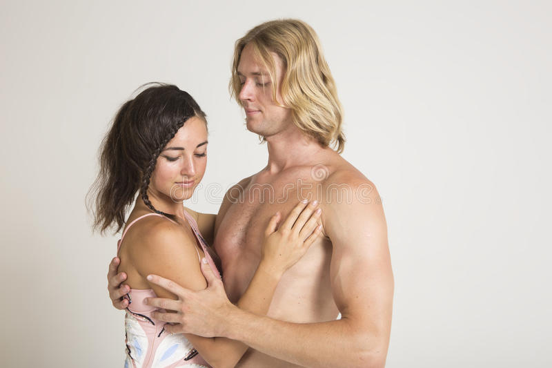 Download Acrobats Have Tender Moment Stock Image - Image: 33314251