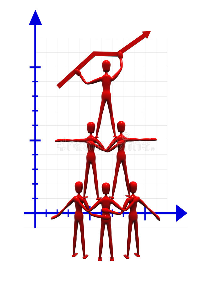 Download Acrobats holding a graph stock illustration. Illustration of isolated - 3056991