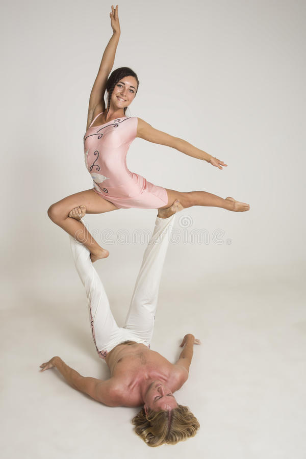 Download Acrobats perform as a team stock photo. Image of flexible - 33314216