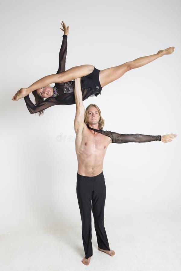 Acrobats Perform Royalty Free Stock Photos