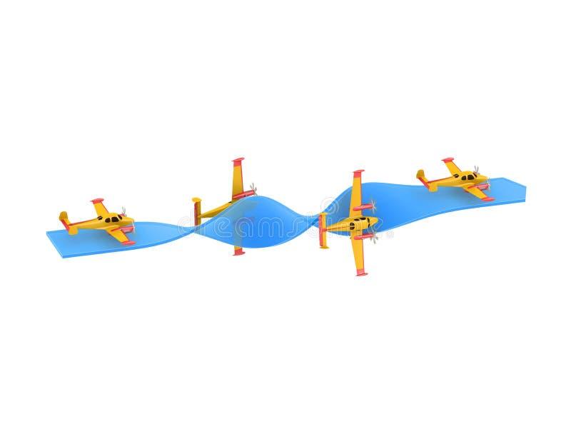 Acrobazie aeree dell'aeroplano immagine stock libera da diritti